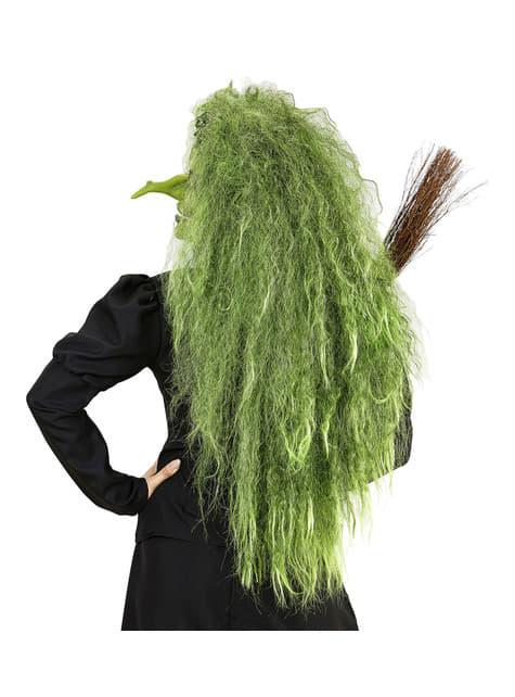 Peluca de bruja verde para mujer - original