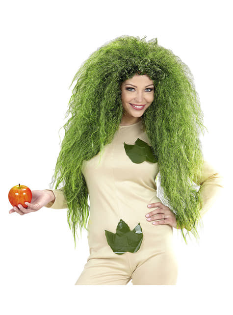 Peluca de bruja verde para mujer - barato