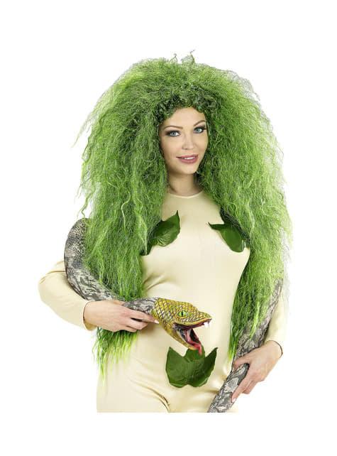 Peluca de bruja verde para mujer - Halloween