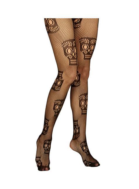 Women's black Catrina fishnet stockings