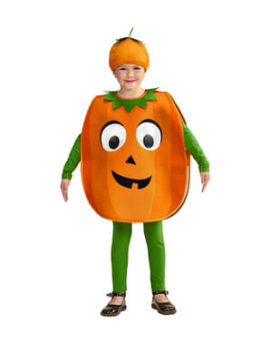 Costum de dovleac cu ochi mari pentru copii