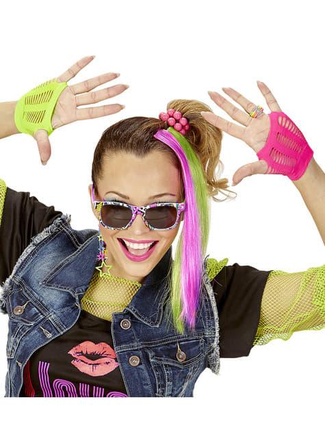 Kit disfraz de chica de los años 80 - mujer