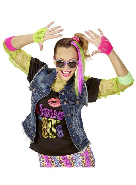 Kit disfraz de chica de los años 80 - original