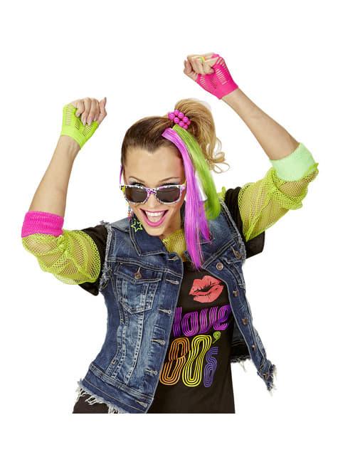 Kit disfraz de chica de los años 80 - traje