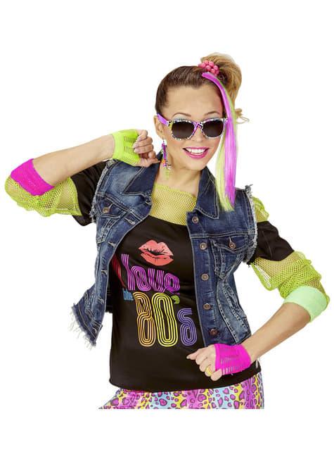 Kit disfraz de chica de los años 80 - Halloween