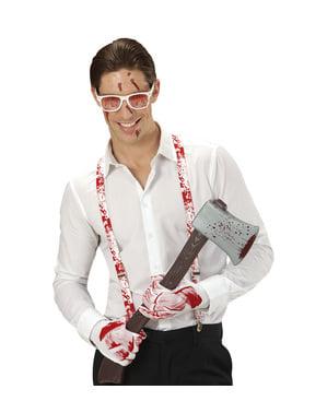 Zakrvácená souprava kostýmu psychopata