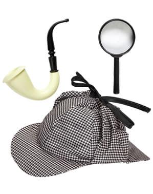 Detektiv Kostüm Kit für Erwachsene