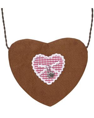 Sydämenmuotoinen Oktoberfest -laukku