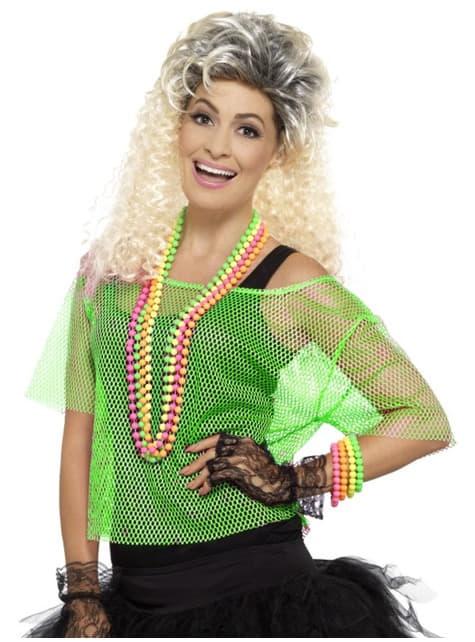 Neon Green T-shirt Fishnet για γυναίκες