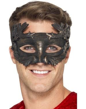 Máscara de guerreiro metálico para adulto