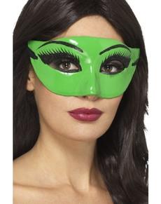 Maschera da strega verde con sopracciglia ... class