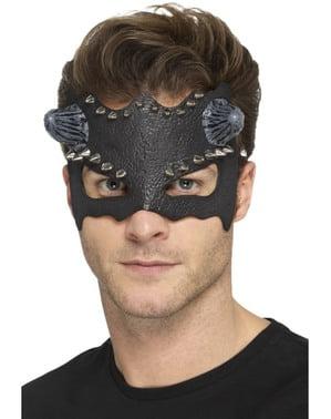 Máscara de demónio punk para adulto