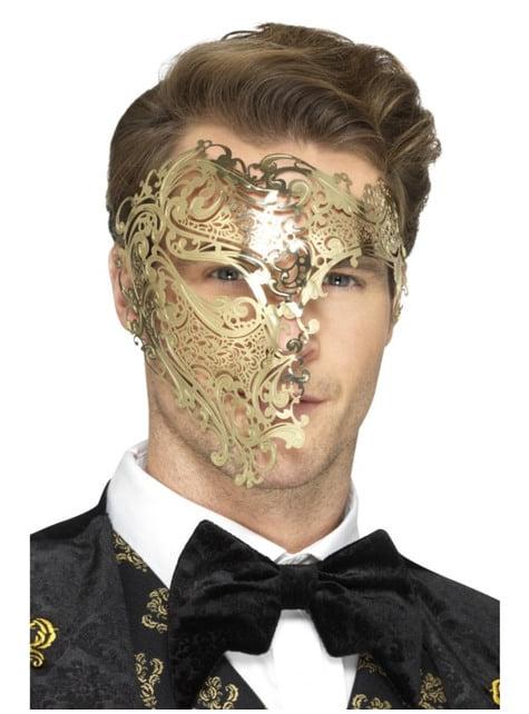 Het Spook van de Gouden Opera half masker voor mannen