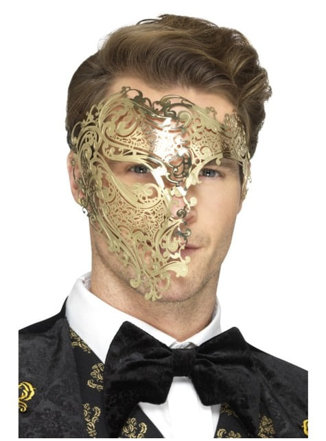 Maska złota Upiór w operze dla mężczyzn