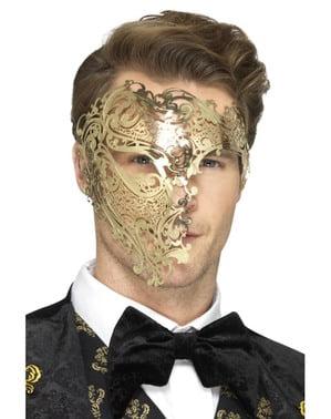 Pánská maska Fantom opery zlatá