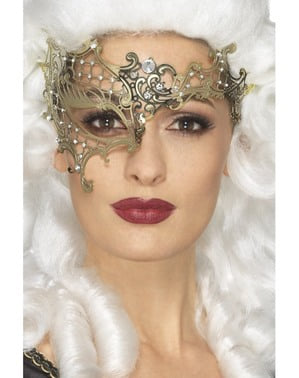 Máscara dourada de fantasma da Ópera