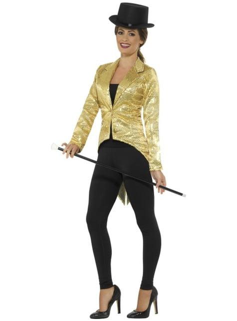 Women's gold sequin jacket