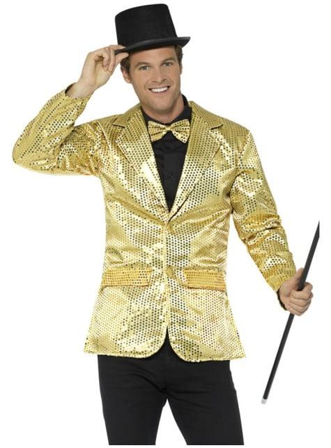 Golden sequin jacket for men