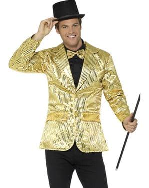 Casaco de lantejoulas dourado para homem