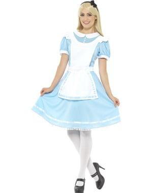 Alice kostuum van wonder voor vrouw