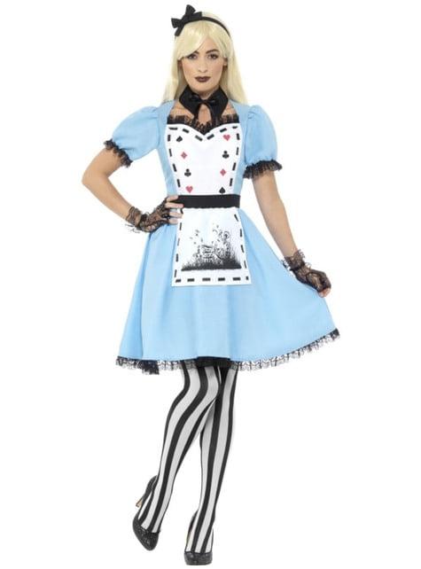 Alice kostuum van Darkland voor vrouwen