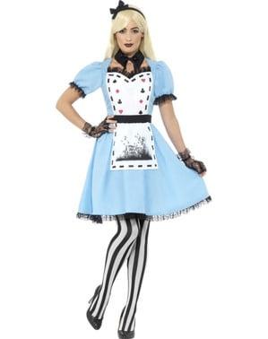 ワンダーランド衣装の女性の暗いアリス