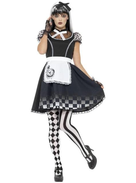 Déguisement Alice merveilleuse gothique femme