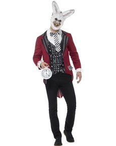 Punctual rabbit costume for men