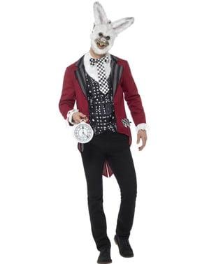 Maskeraddräkt punktlig kanin vuxen