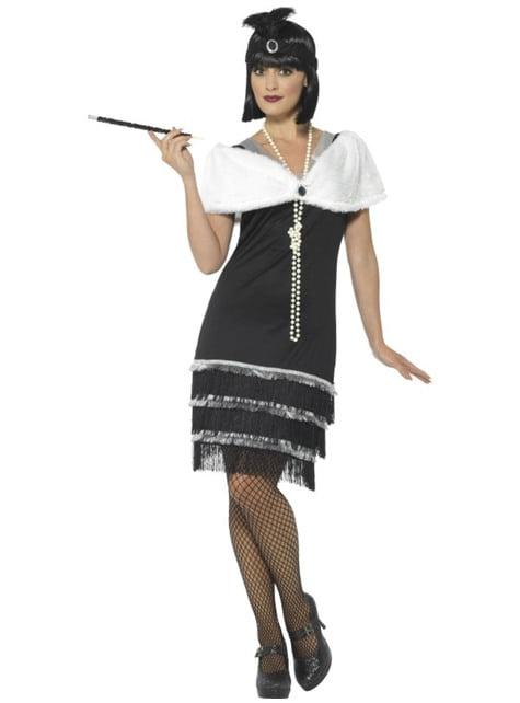 Jaren '20 kostuum elegant voor vrouw