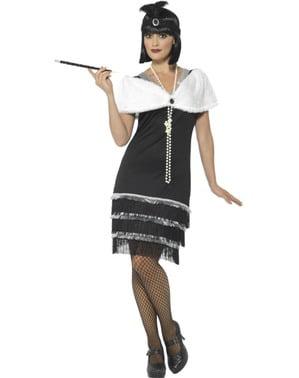Fato dos anos 20 elegante para mulher