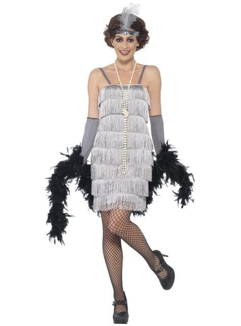 Women's silver 20's charleston costume