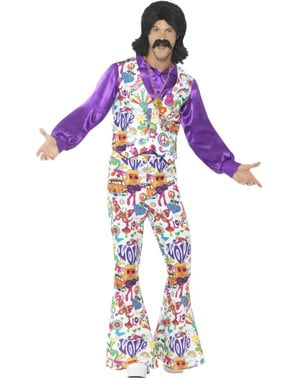 Men's colourful 70's costume