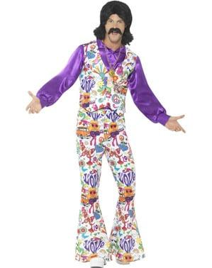 Шарен мъжки костюм от 70-те