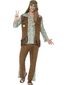 Psychedelic brown hippie costume for men  sc 1 st  Funidelia & Hippie Costumes u0026 60s Outfits. Express delivery | Funidelia