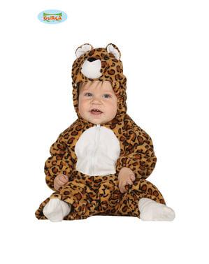Costum de leopard obraznic pentru bebeluși
