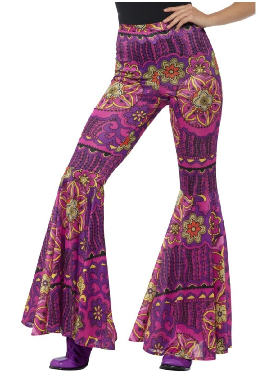 Women's flowered flared trousers