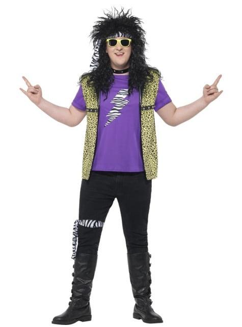 Plus Size Hard Rocker kostume til mænd
