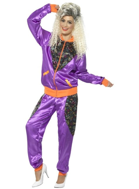Women's 80's retro tracksuit costume