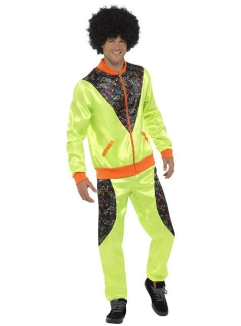Eighties retro tracksuit costume for men