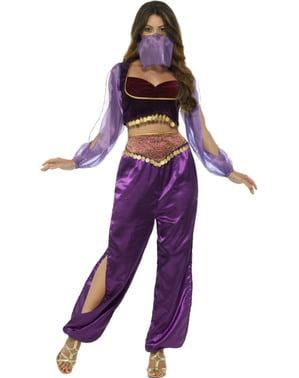Disfraz danza del vientre morado para mujer