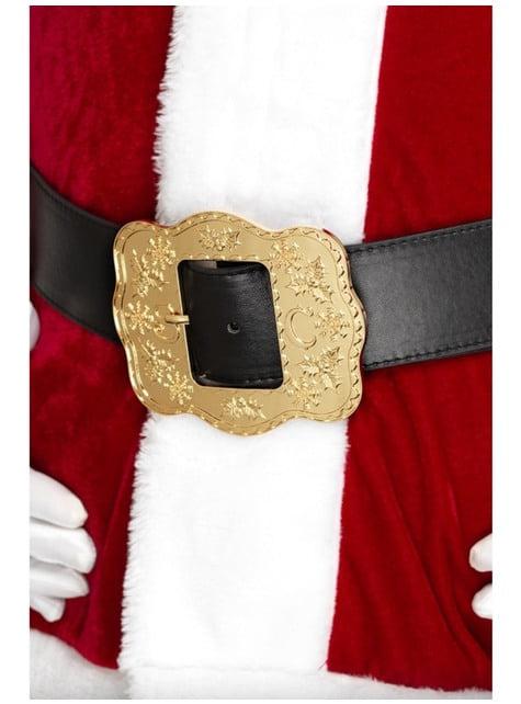Cinturón de Papá Noel deluxe para adulto