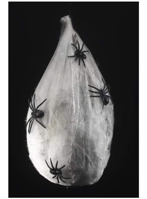Moving spiders fluorescent larva