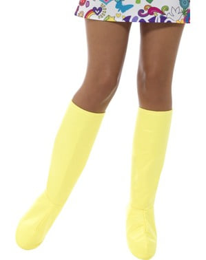 Yellow classic boot covers for adults