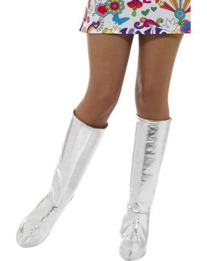 Stříbrné klasické potahy na boty pro dospělé