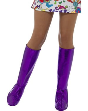 Purple classic boot covers for adults