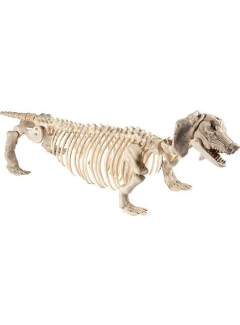 Sausage dog skeleton decorative figure