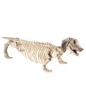 Figura decorativa de esqueleto de cão salchicha