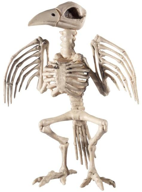 Figura decorativa de esqueleto de pájaro