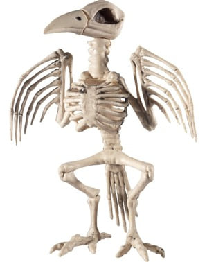 Figura decorativa de esqueleto de pássaro